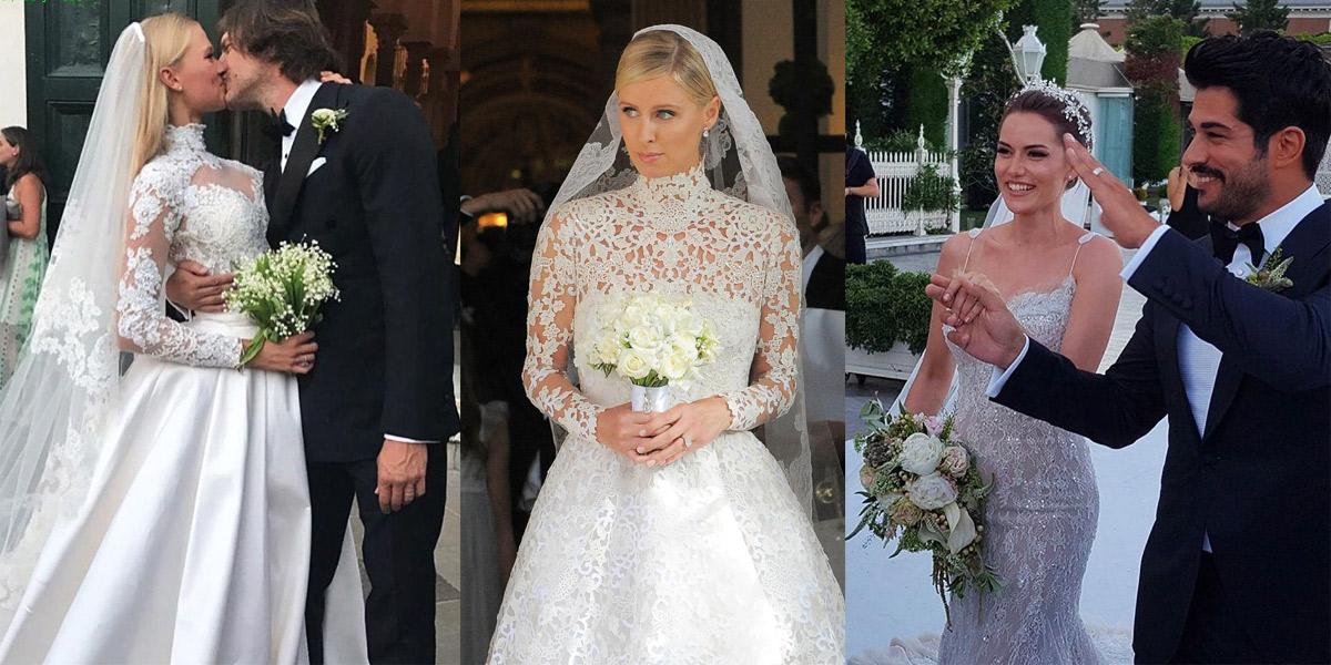 Самые незабываемые свадебные букеты знаменитостей, букет невесты питер